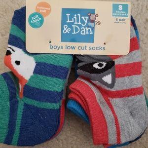 NWT Lily and Dan 6 pk socks